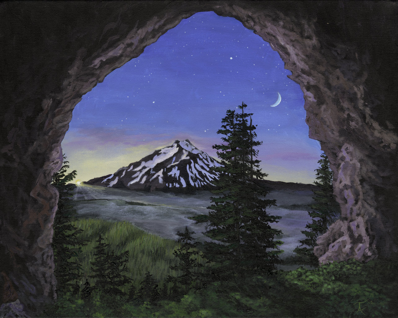 Mt. Jefferson from Boca Cave.